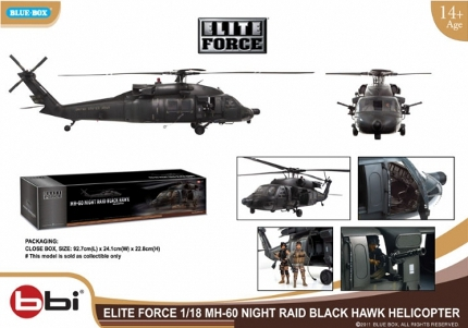 3 75-Inch Scale MH-60 Blackhawk at Bad Cat Toys