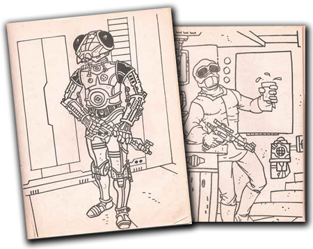 Spotted Online – Ancient Star Wars Coloring Book Pages at Plaid ...