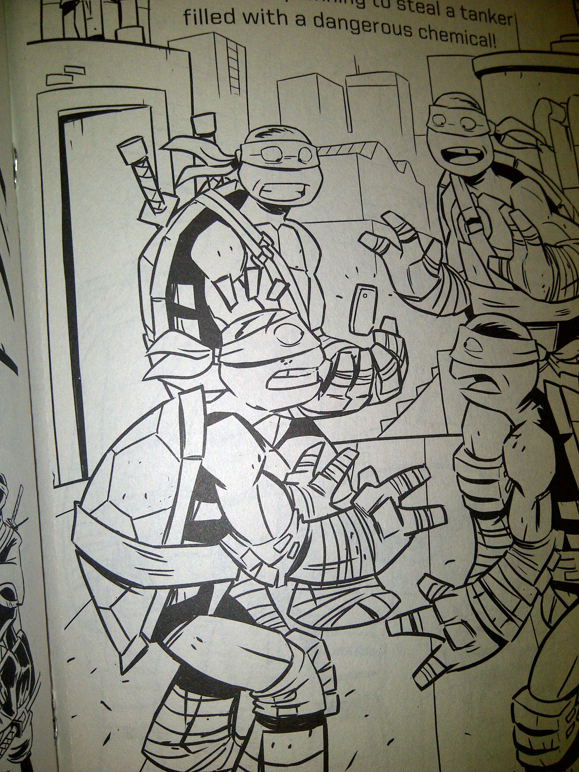 New Teenage Mutant Ninja Turtles Coloring Book in Stores