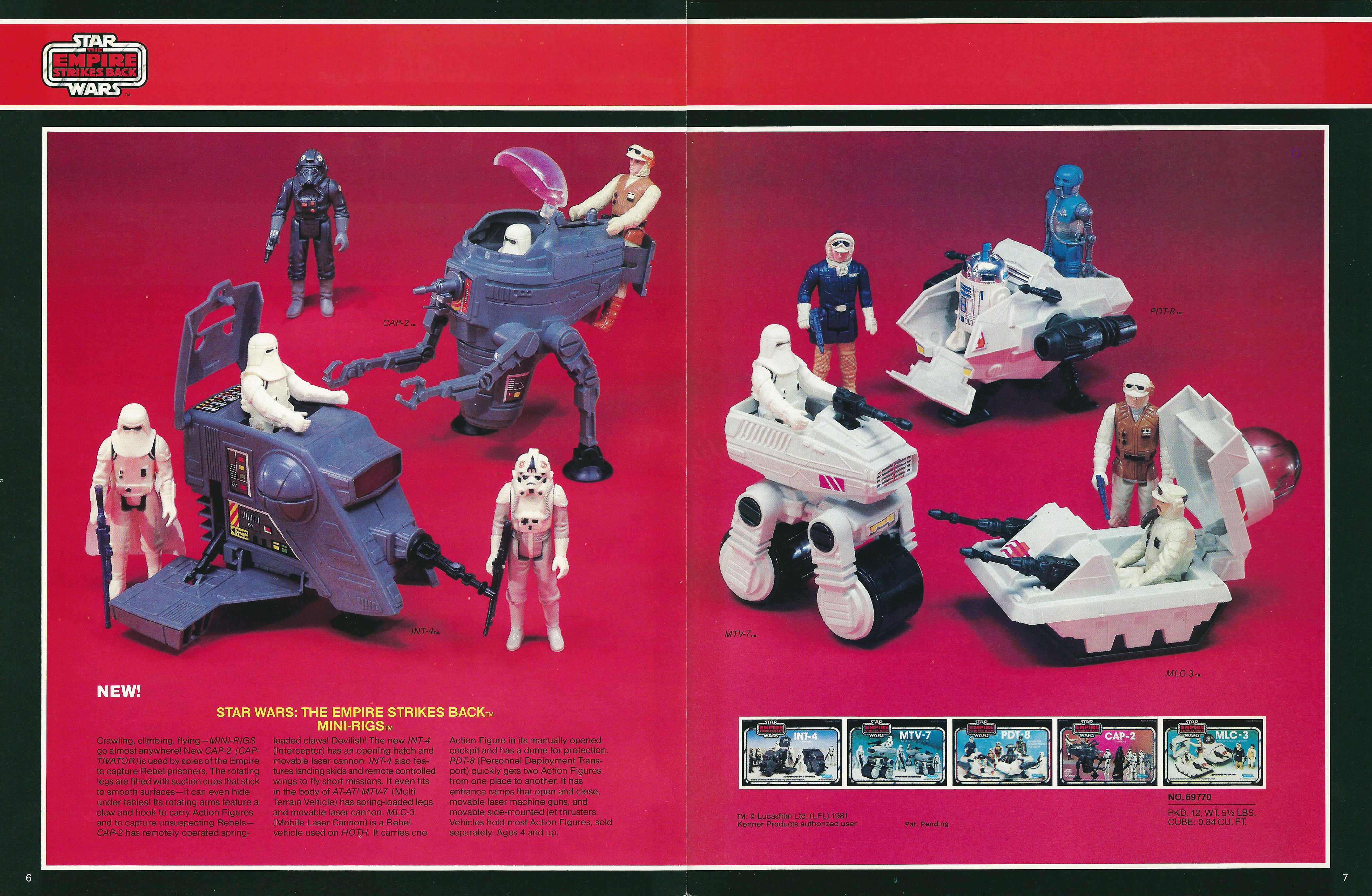 Star Wars Mini Rigs In The 1982 Kenner Showroom Catalog
