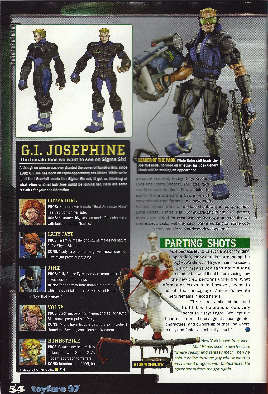 G I  Joe: Sigma Six and ToyFare Magazine in 2005