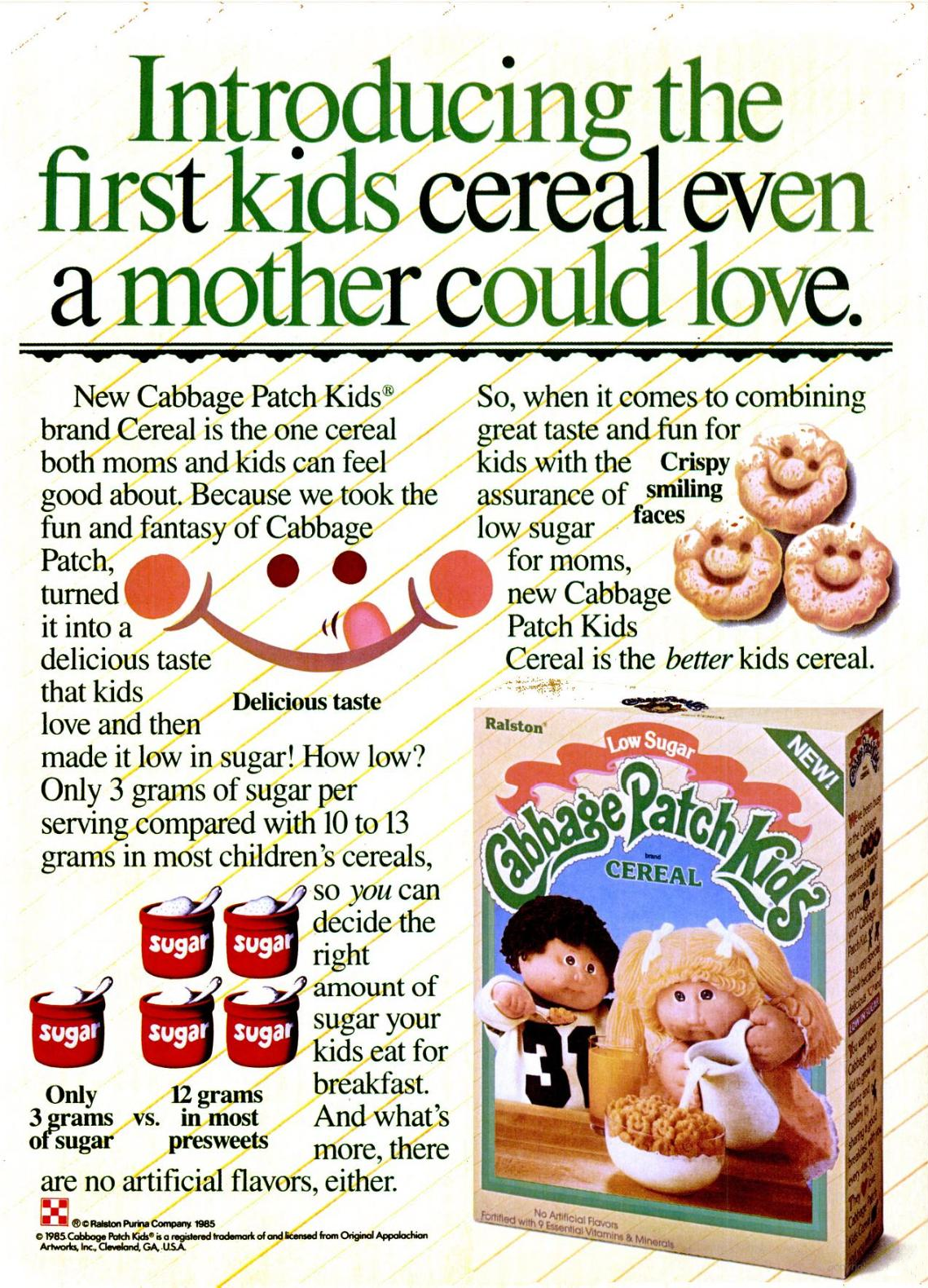 1985 Cabbage Patch Kids Cereal Advertisement