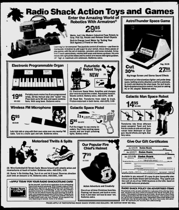 "1985 ""Galactic Man Space Robot"" at Radio Shack (AKA"