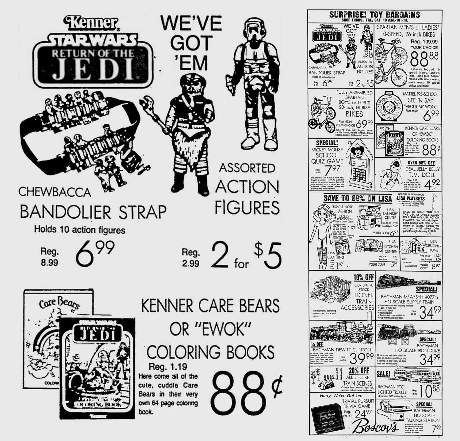Kenner Star Wars Return Of The Jedi Action Figures And Coloring Book