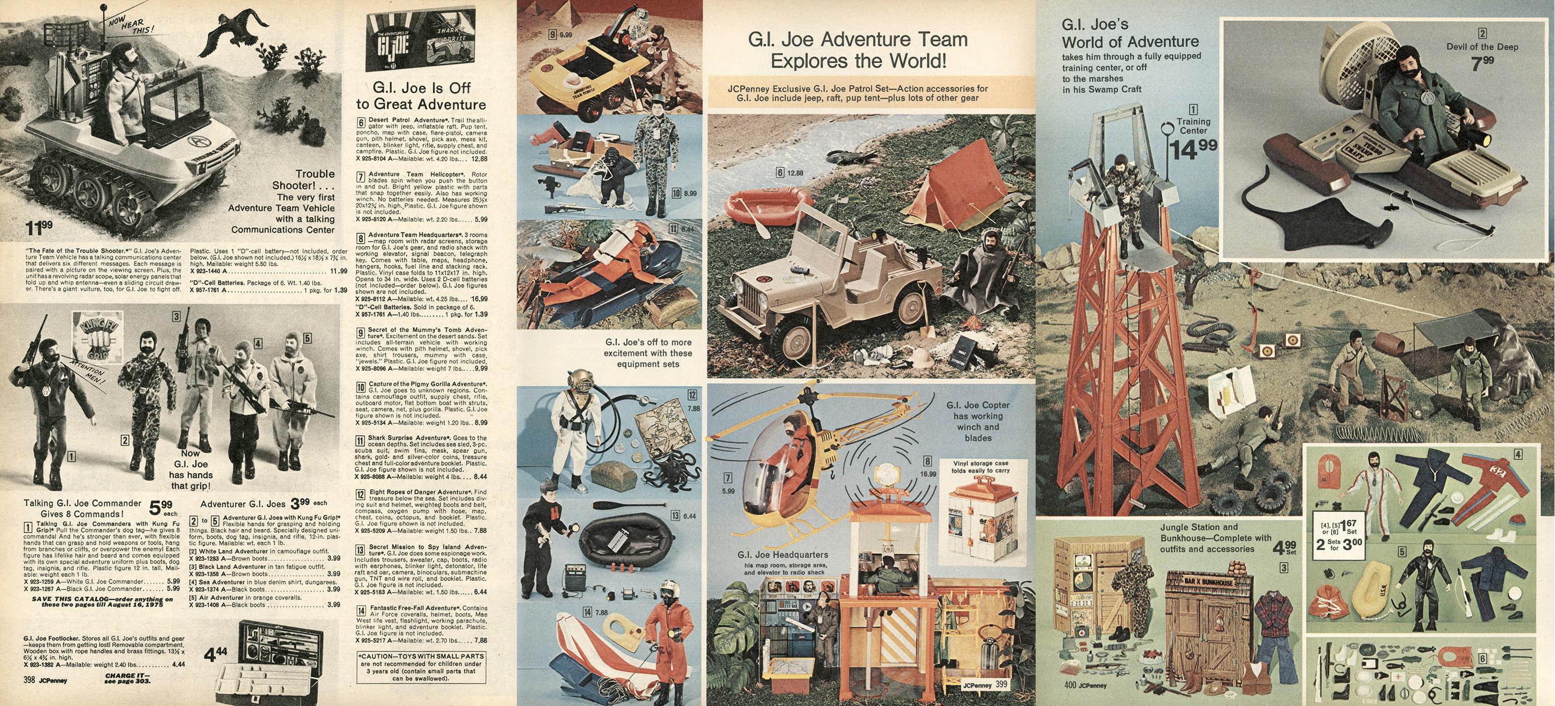 1974 JCPenny Christmas Catalog and G.I. Joe
