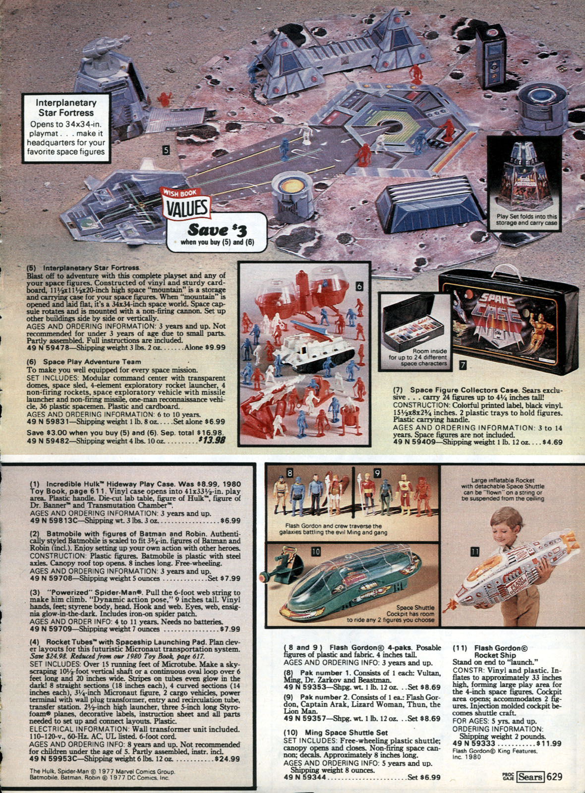Interplanetary Star Fortress Playset in the 1980 Sears