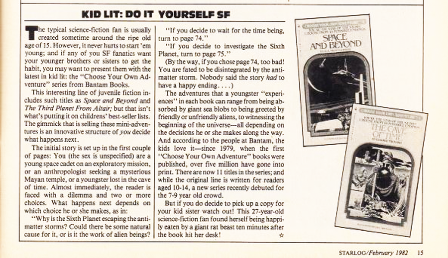Choose your own adventure books in starlog magazine enlarge image solutioingenieria Image collections