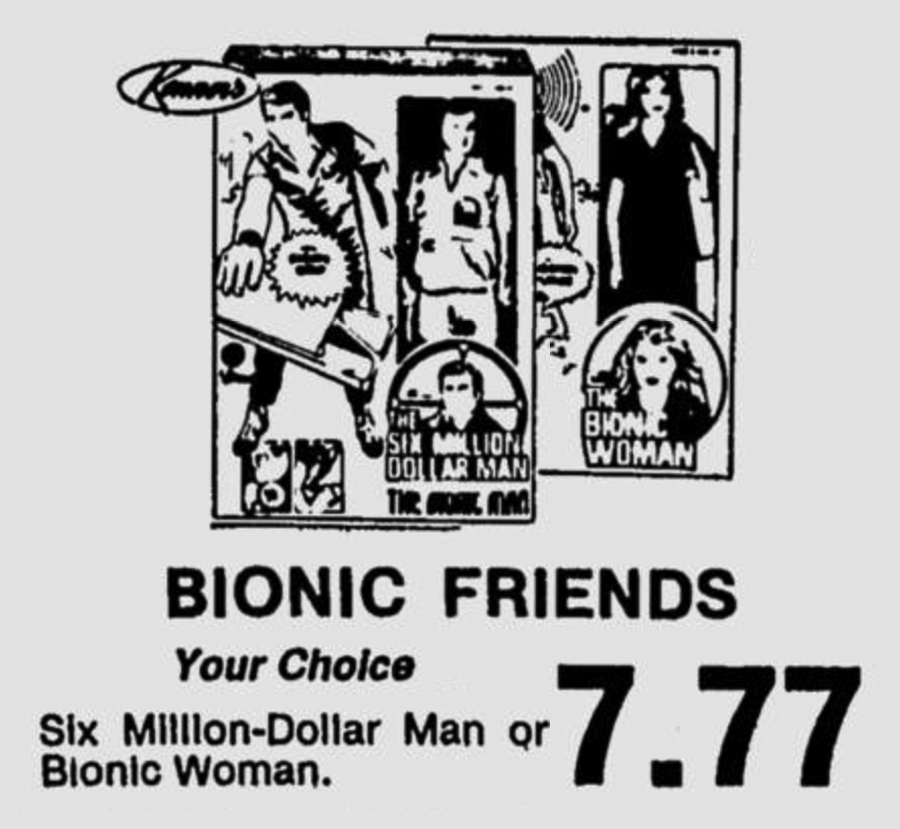 Bionic Friends and Stretch Armstrong in 1977