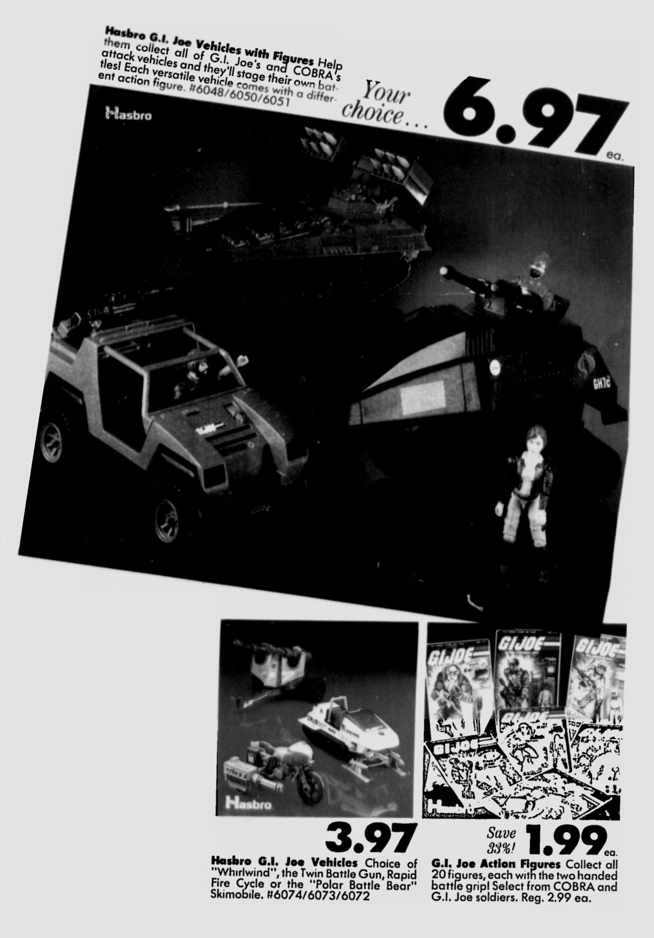 Hasbro\'s G.I. Joe Action Figures and Vehicles on Sale in 1983