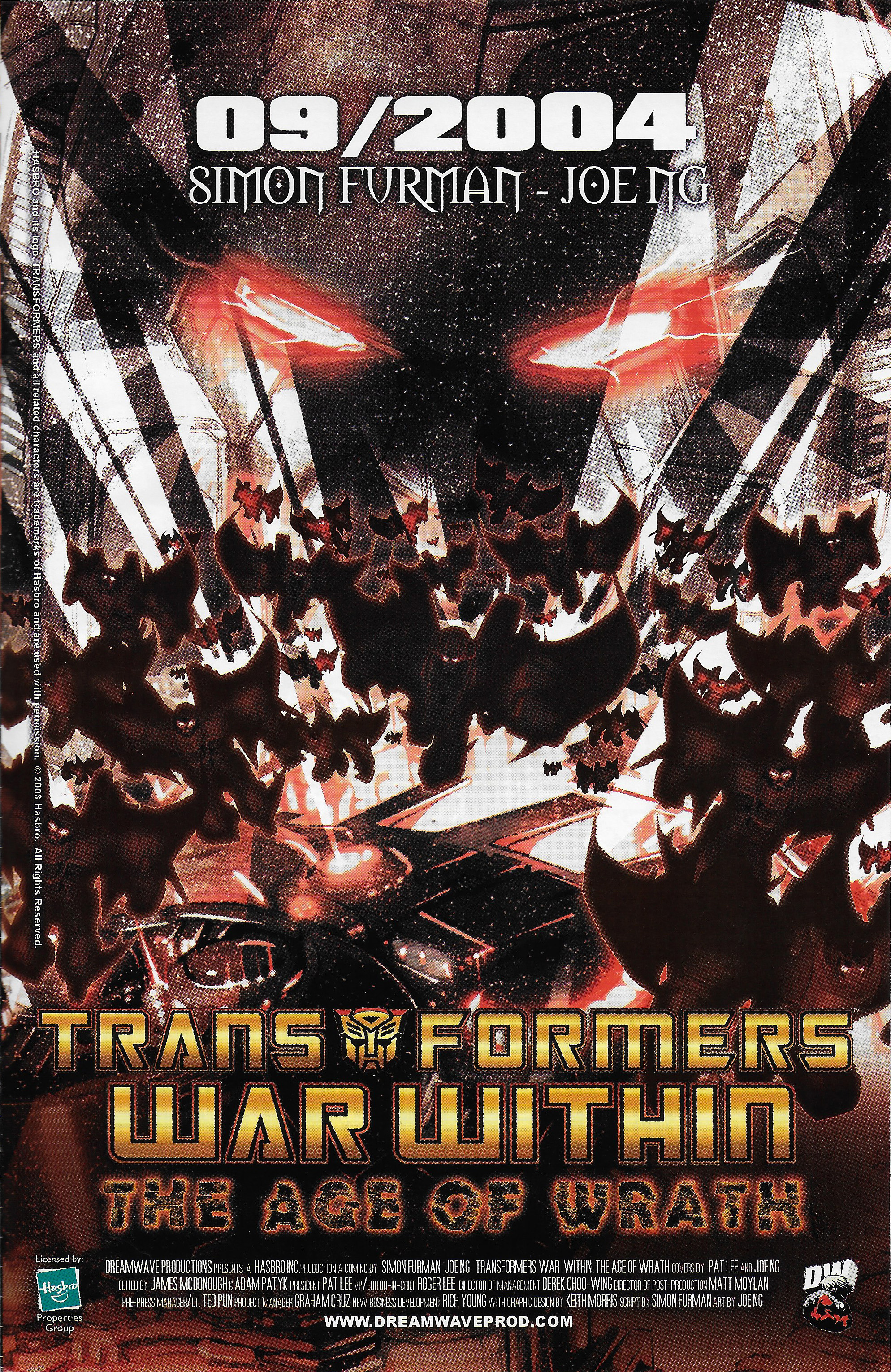 "Transformers: War Within ""The Age of Wrath"" Advertisement from 2004"