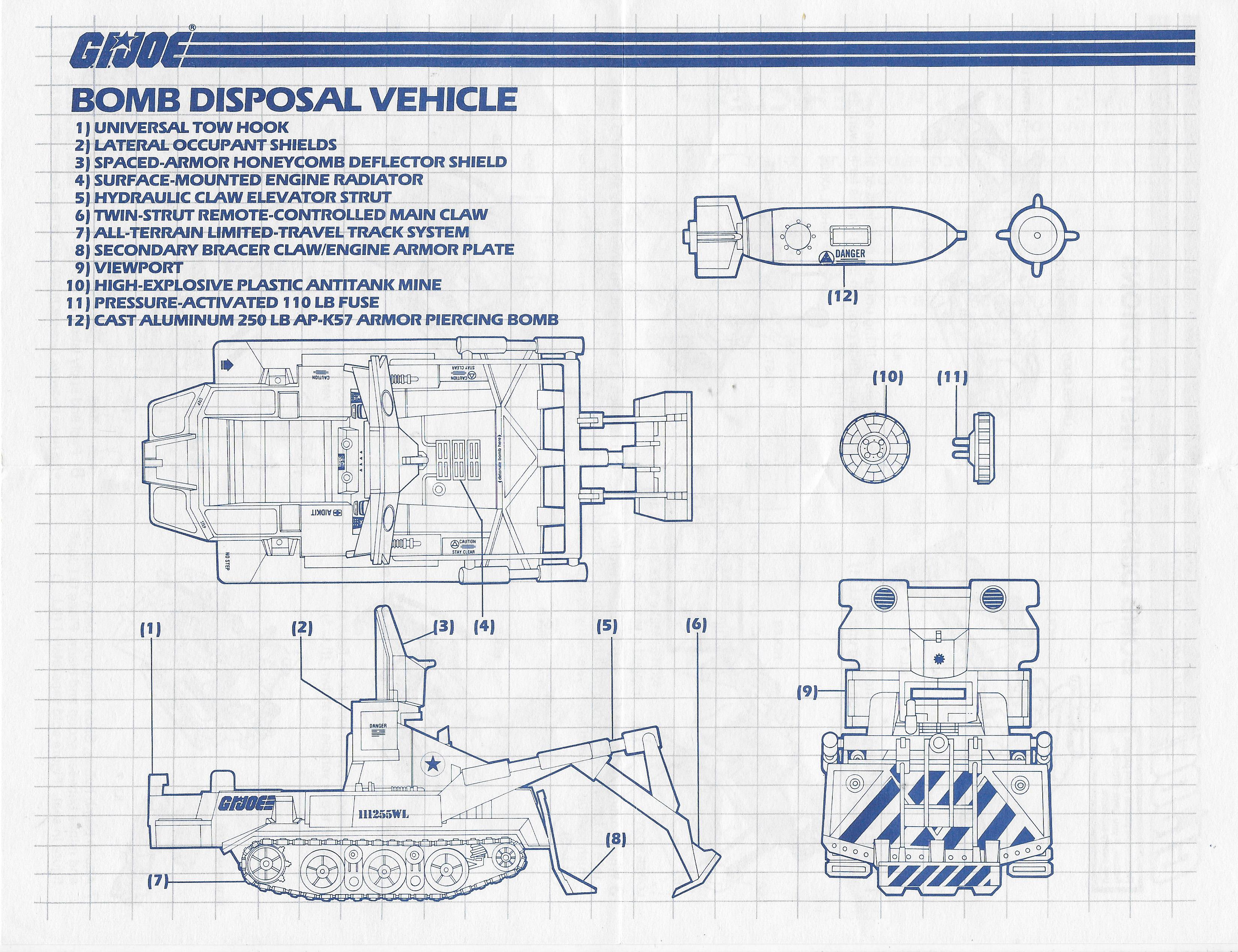G.I. Joe Bomb Disposal Vehicle Blueprints and Instructions