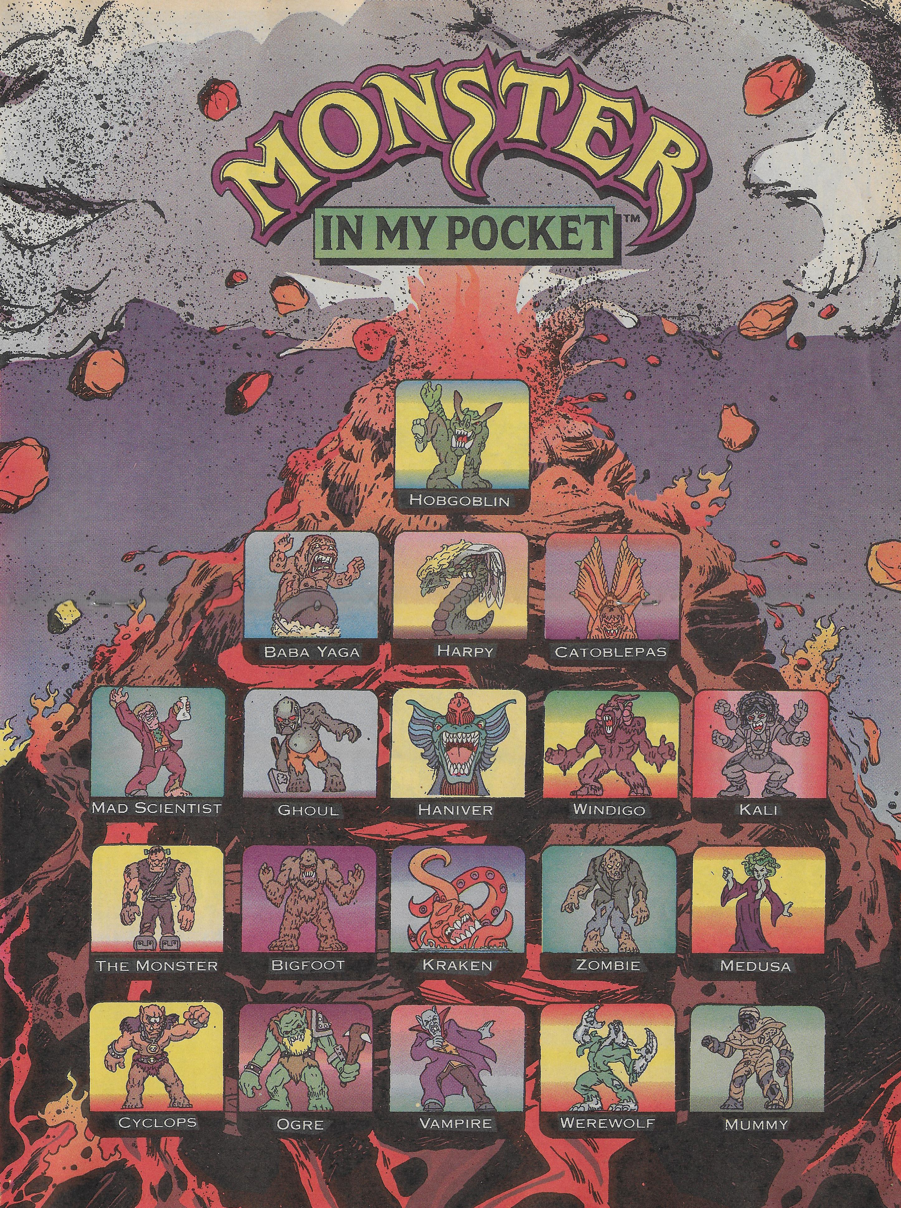 Monster in My Pocket Comic Poster