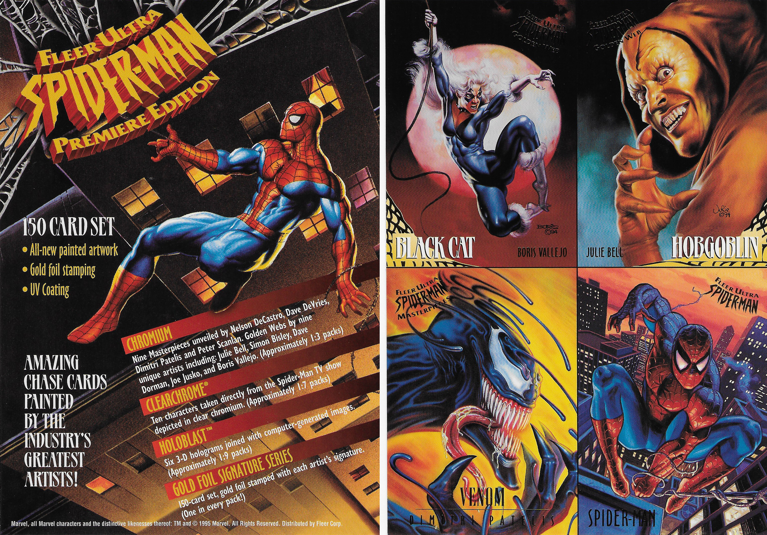 2d73ae092c7 1995 Fleer Ultra Spider-Man Trading Cards Promo