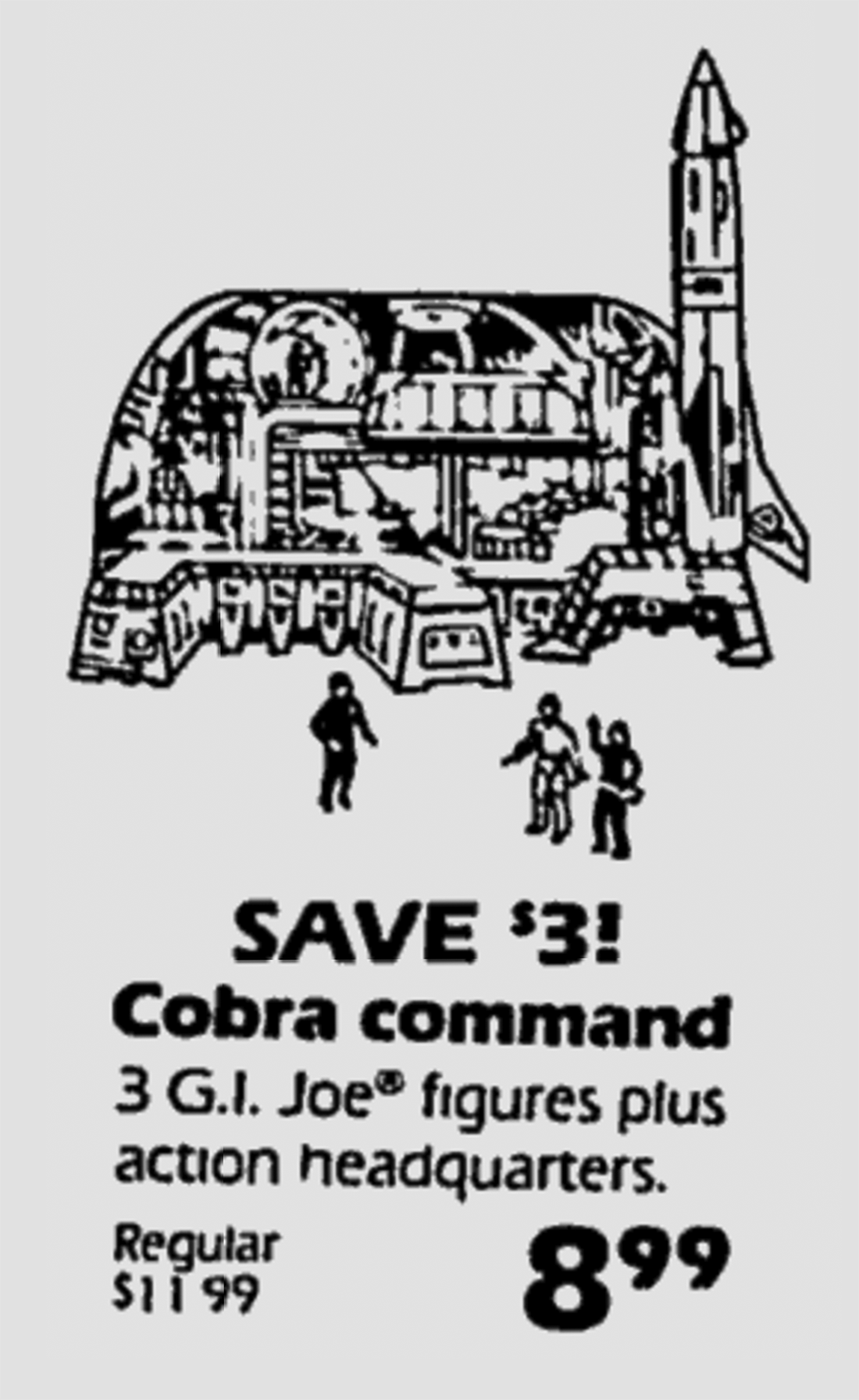 G I  Joe Missile Command Headquarters on Sale at Sears in 1982