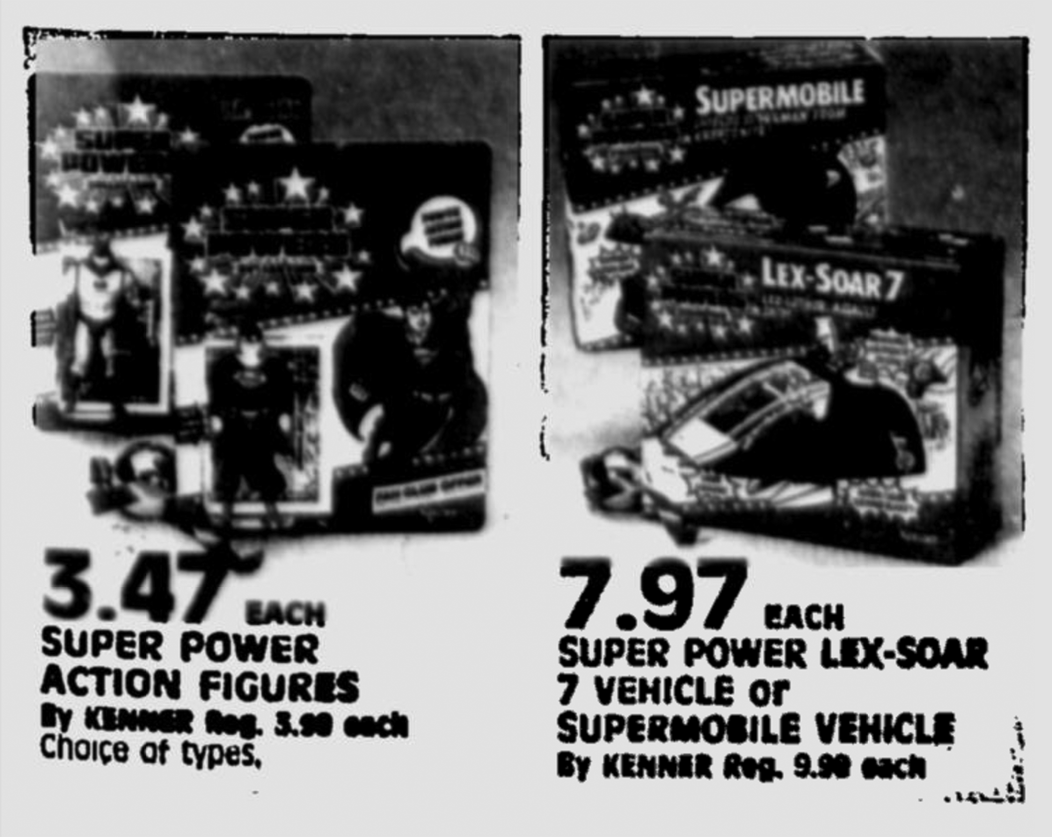 Kenner Super Powers Action Figures and Vehicles on Sale in 1984