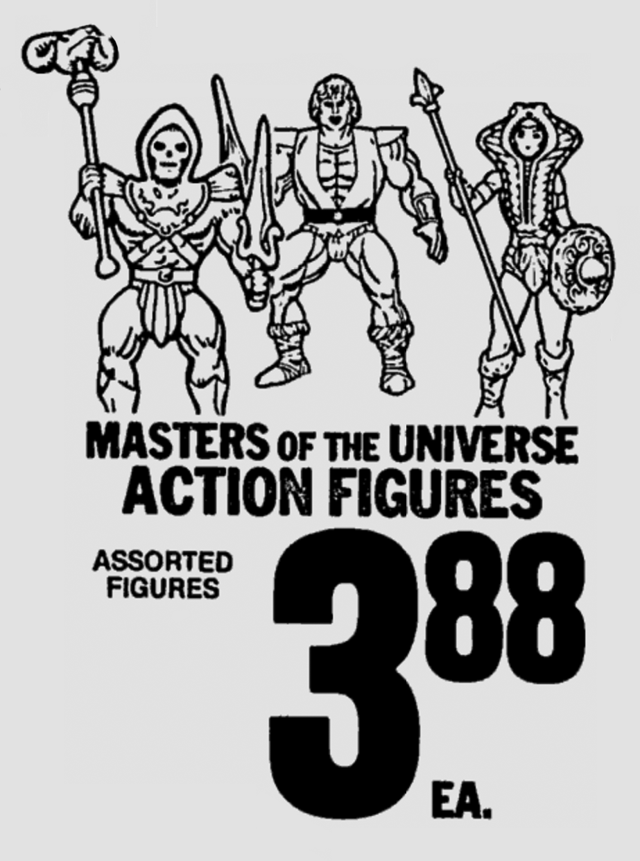 Masters of the Universe Action Figures at Albertsons in 1986