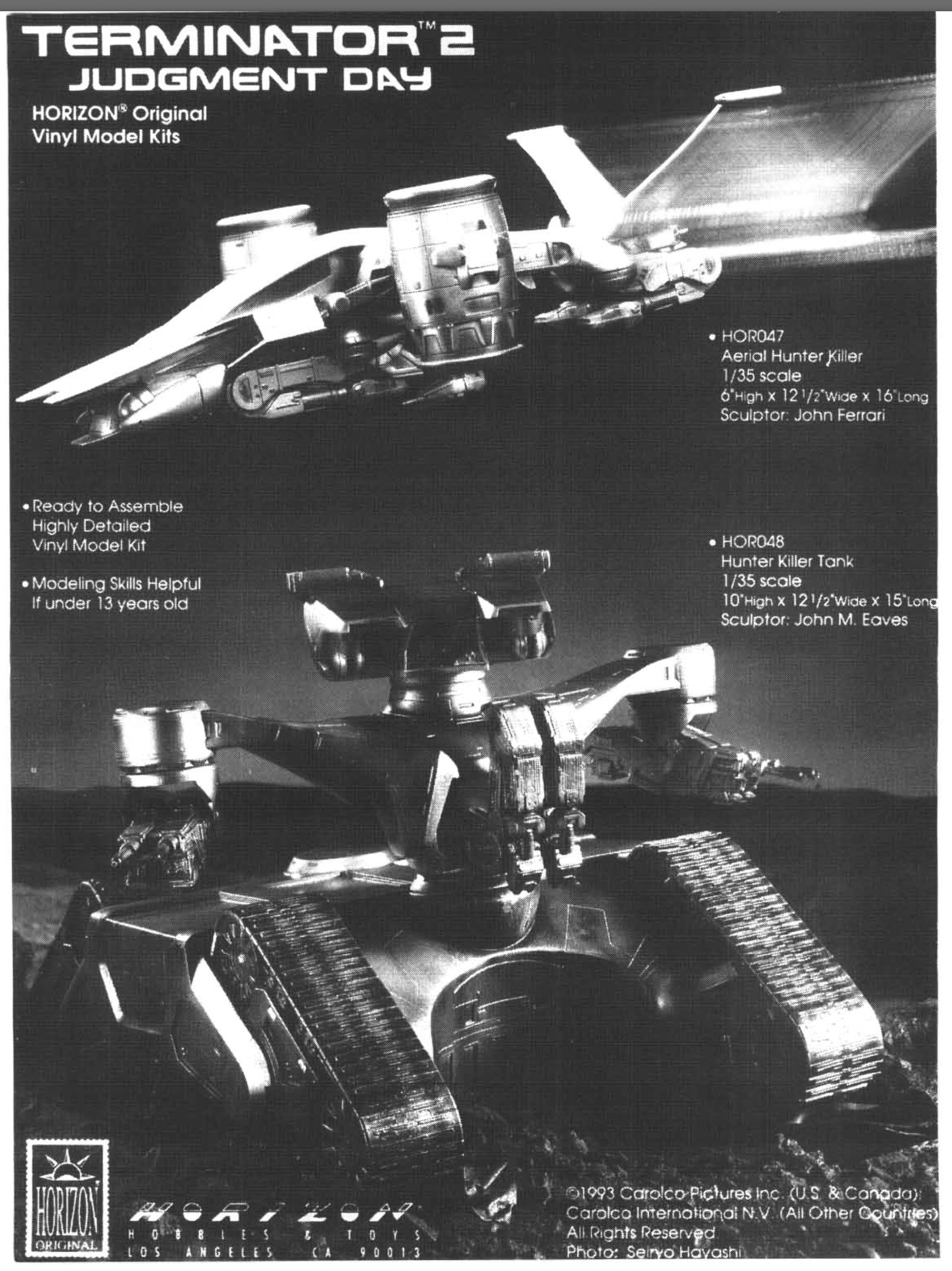 1994 Terminator 2 Model Kits Advertisement