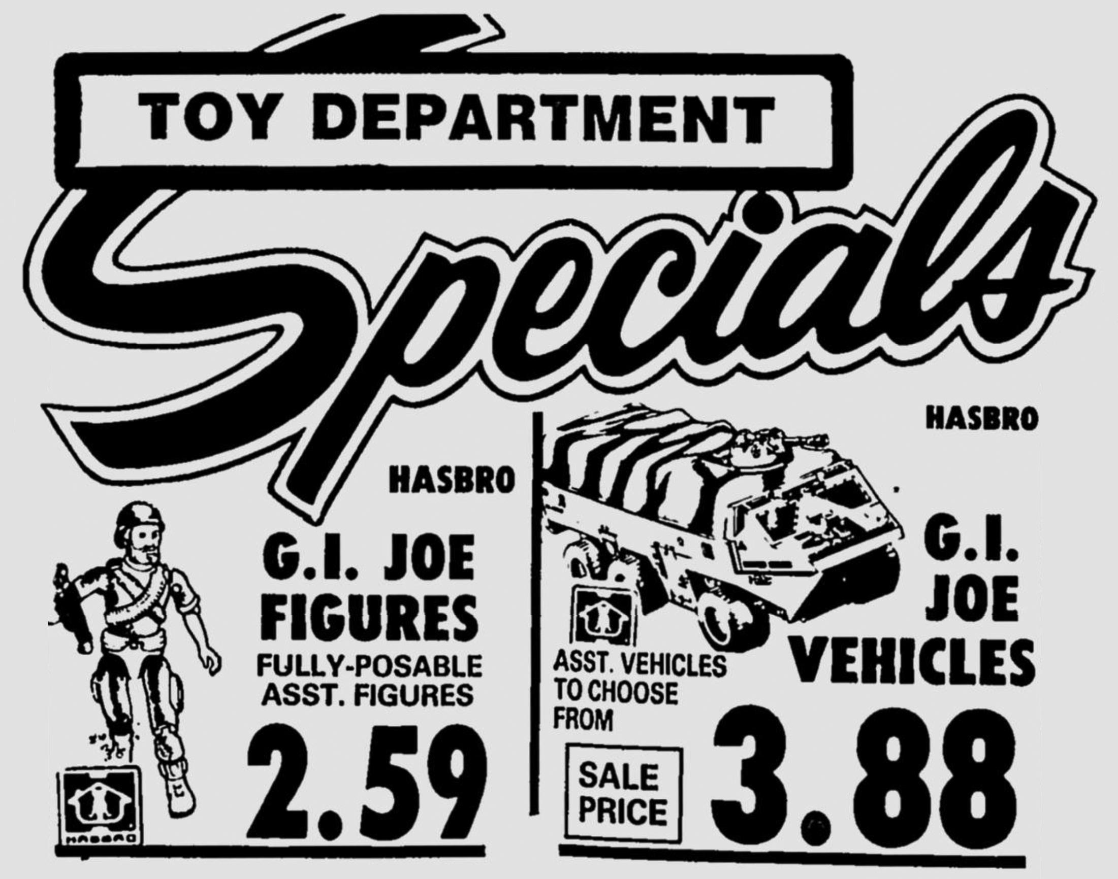 Hasbro G.I. Joe Figures and Vehicles on Sale in 1983