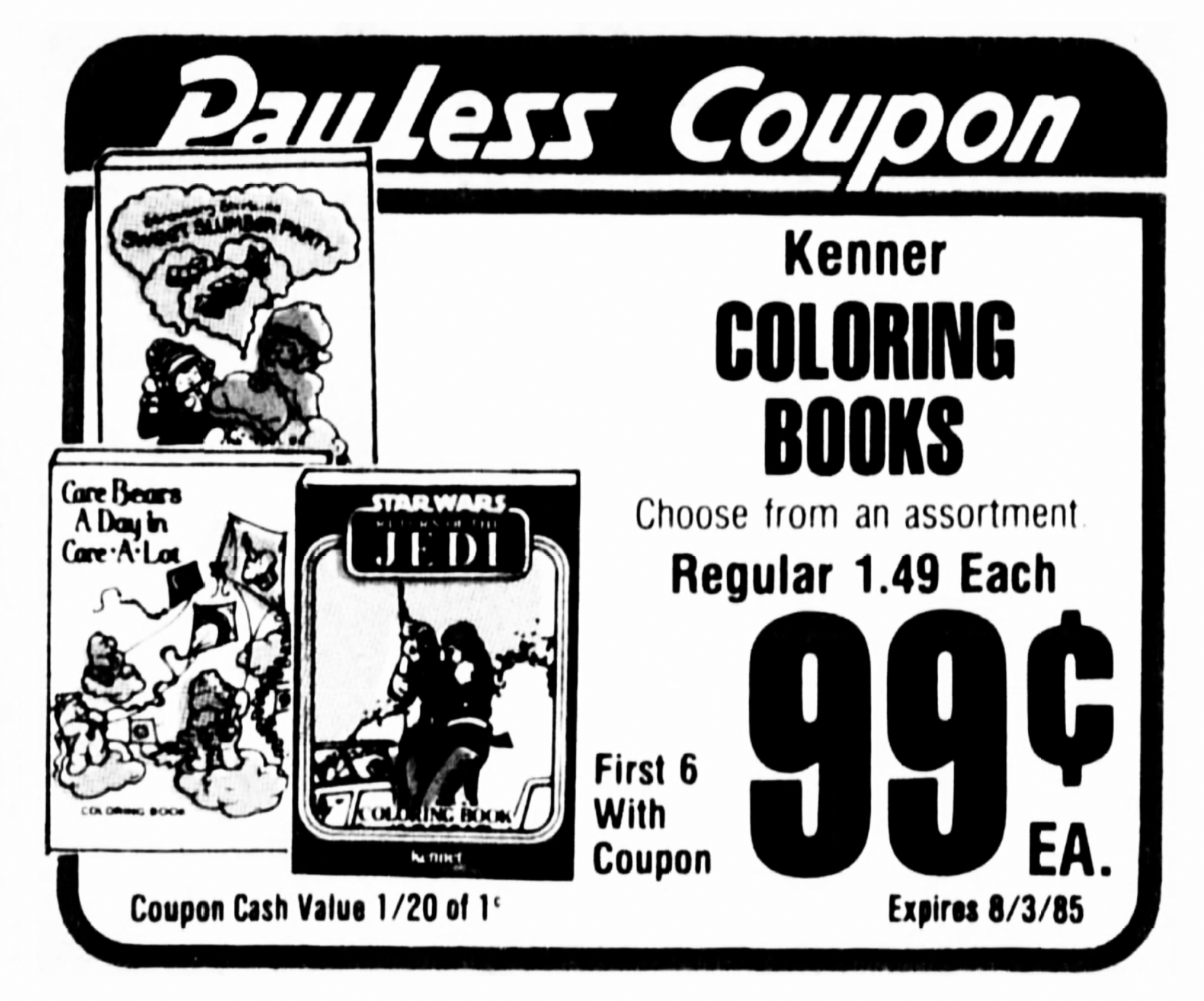 Kenner Star Wars, Care Bears, and Strawberry Shortcake Coloring ...