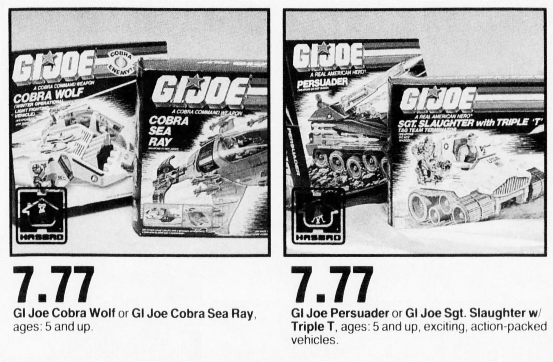 G.I. Joe Vehicles on Sale in 1987