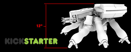 Kickstarter 12 Inch Scale Ghost In The Shell Tank Battlegrip