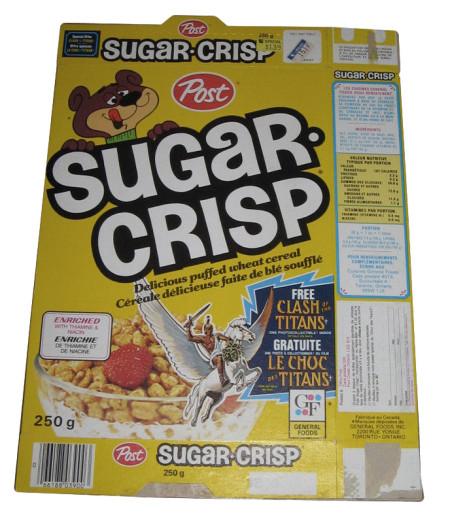 1981 Sugar Crisp Cereal And Clash Of The Titans