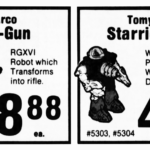 Arco's Ro-Gun and Tomy's Starriors on Sale in 1984